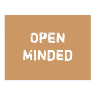 Open Minded Light Brown Post Cards