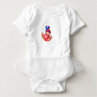 Open model human heart on white background baby bodysuit