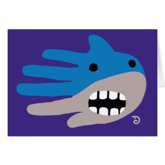 Open Mouth Shark Greeting Card