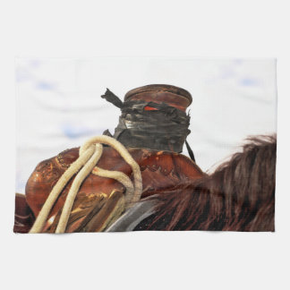 Open Range Saddle Kitchen Towel Western Life