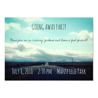 Open Road Going Away Party Invitation
