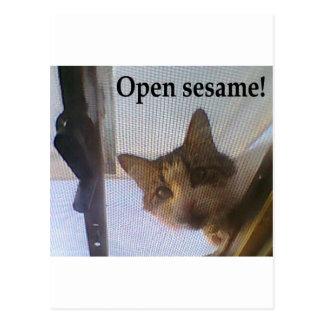 Open sesame! postcard