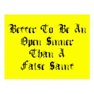 Open Sinner Post Card