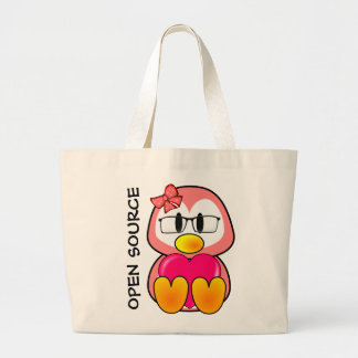 Open Source Chick (Women in Computing Technology) Jumbo Tote Bag