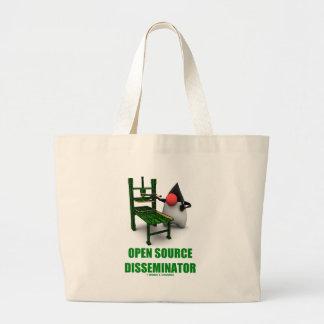 Open Source Disseminator (Open Source Duke) Tote Bags