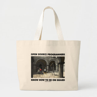 Open Source Programmers Know How To Be On Guard Jumbo Tote Bag