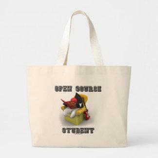 Open Source Student (Duke Java Book Comfy Chair) Jumbo Tote Bag