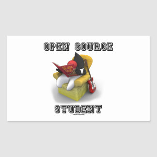 Open Source Student (Duke Java Book Comfy Chair) Rectangular Stickers