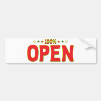 Open Star Tag Bumper Sticker