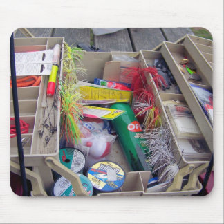 Open Tackle Box Mouse Pad