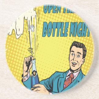 Open That Bottle Night - Appreciation Day Drink Coasters