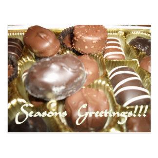 Open The Christmas Chocolates Postcard
