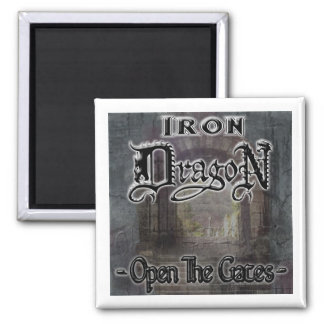 OPEN THE GATES! SQUARE MAGNET