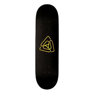 Open Void Black and Gold Logo Board Skateboard Deck