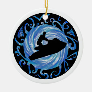 OPEN WATER JETSKIING CERAMIC ORNAMENT