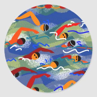 OPEN WATER Swim Round Sticker