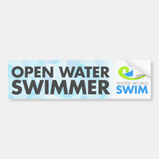 Open water swimmer bumper sticker