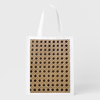 Open Weave Rattan Cane Reusable Bag