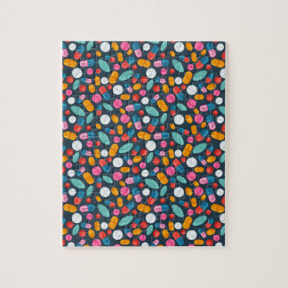 """Open wide!"" pill print jigsaw puzzle"