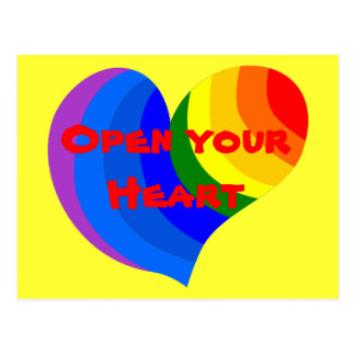Open your Heart postcard