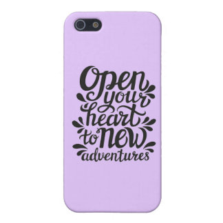 Open Your Heart To New Adventures iPhone 5/5S Covers