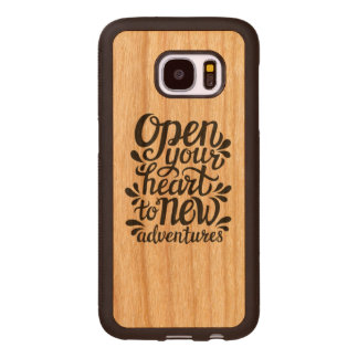 Open Your Heart To New Adventures Wood Samsung Galaxy S7 Case