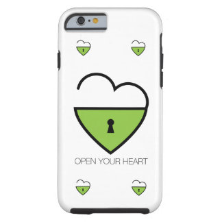 Open Your Heart. Tough iPhone 6 Case