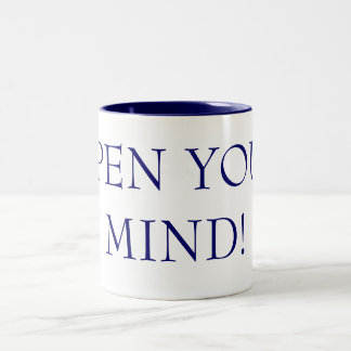 OPEN YOUR MIND! Two-Tone MUG