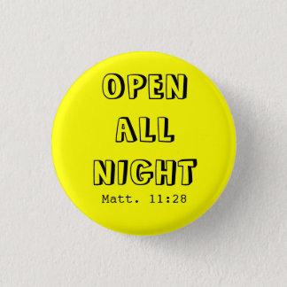 OPENALL NIGHT 3 CM ROUND BADGE