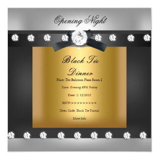 Opening Corporate Business Formal Black gold Card