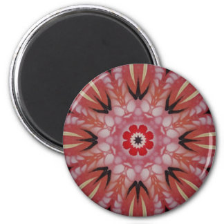Opening Heart 6 Cm Round Magnet