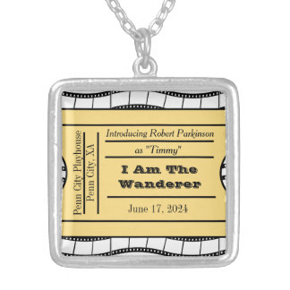 Opening Night Ticket Credits Silver Plated Necklace