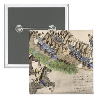 Opening of the Battle of the Little Big Horn ink Pin
