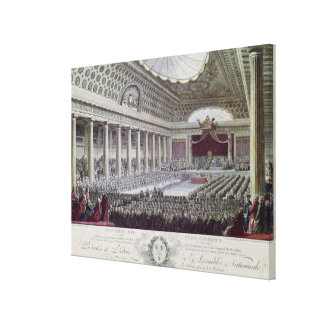 Opening of the Estates General at Versailles Canvas Print