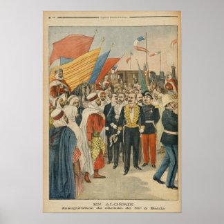 Opening of the Saida railway in Algeria Poster