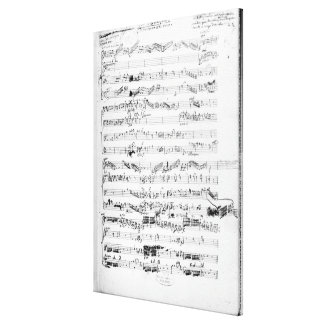 Opening page of the score of 'Les Paladins' Canvas Prints