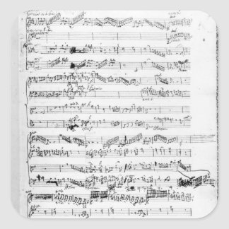 Opening page of the score of 'Les Paladins' Square Sticker