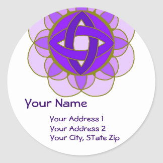 """Opening the Crown Chakra"" Address Label Round Sticker"