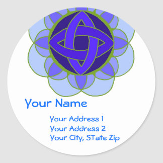 """ Opening the Throat Chakra"" Address Label Round Sticker"