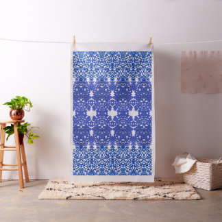 Openwork pattern in the style blue-chinoiserie fabric
