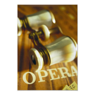 Opera Binoculars 9 Cm X 13 Cm Invitation Card