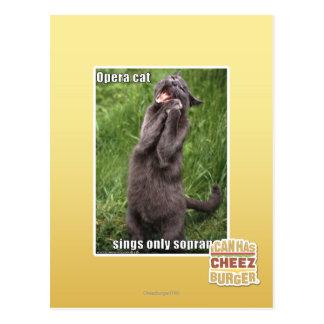 Opera Cat Postcard