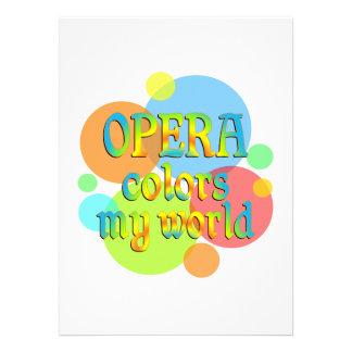 Opera Colors My World Custom Invitations