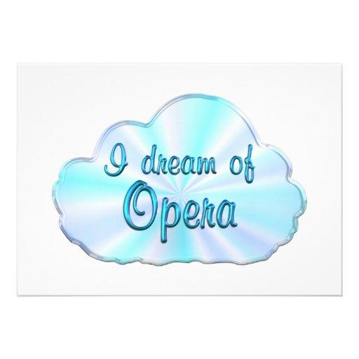 Opera Dreamer Personalized Invitation