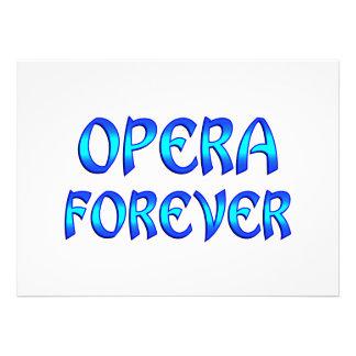 Opera Forever Custom Invites