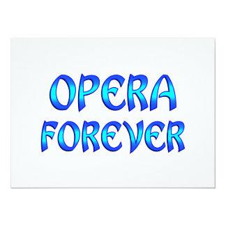 Opera Forever 14 Cm X 19 Cm Invitation Card