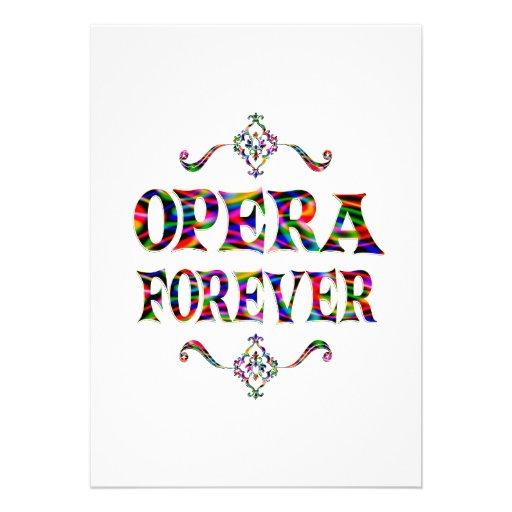 Opera Forever Personalized Invites