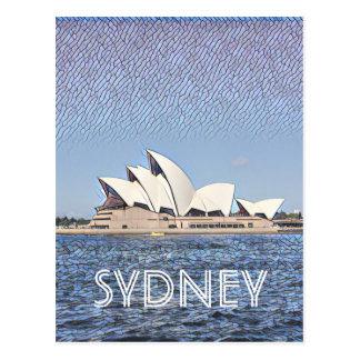 opera glimmer sydney postcard