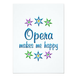 Opera Happy Personalized Invites
