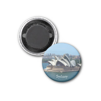 opera house sydney 3 cm round magnet